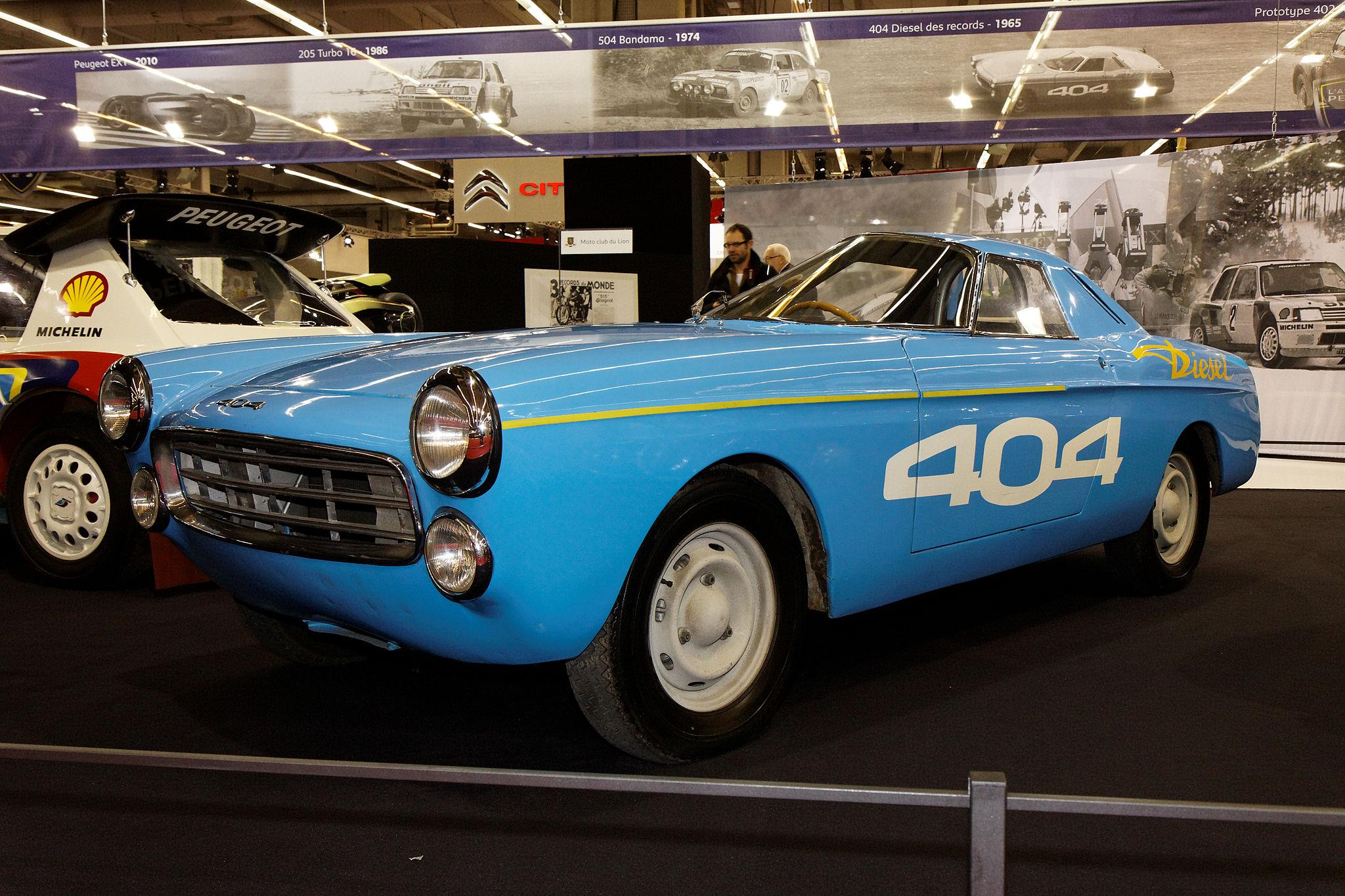 Peugeot 404 diesel des records - 1965