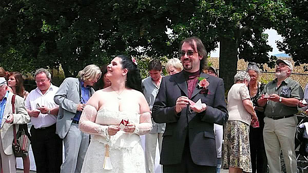 L'heureux couple (papillons non compris)
