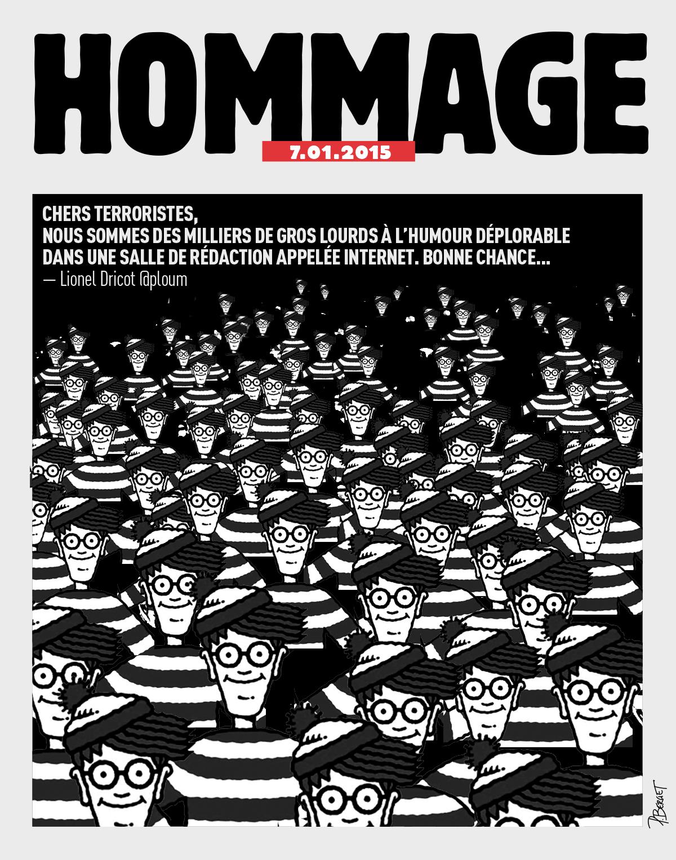 Hommage à Charlie-hebdo de Pierre Berget
