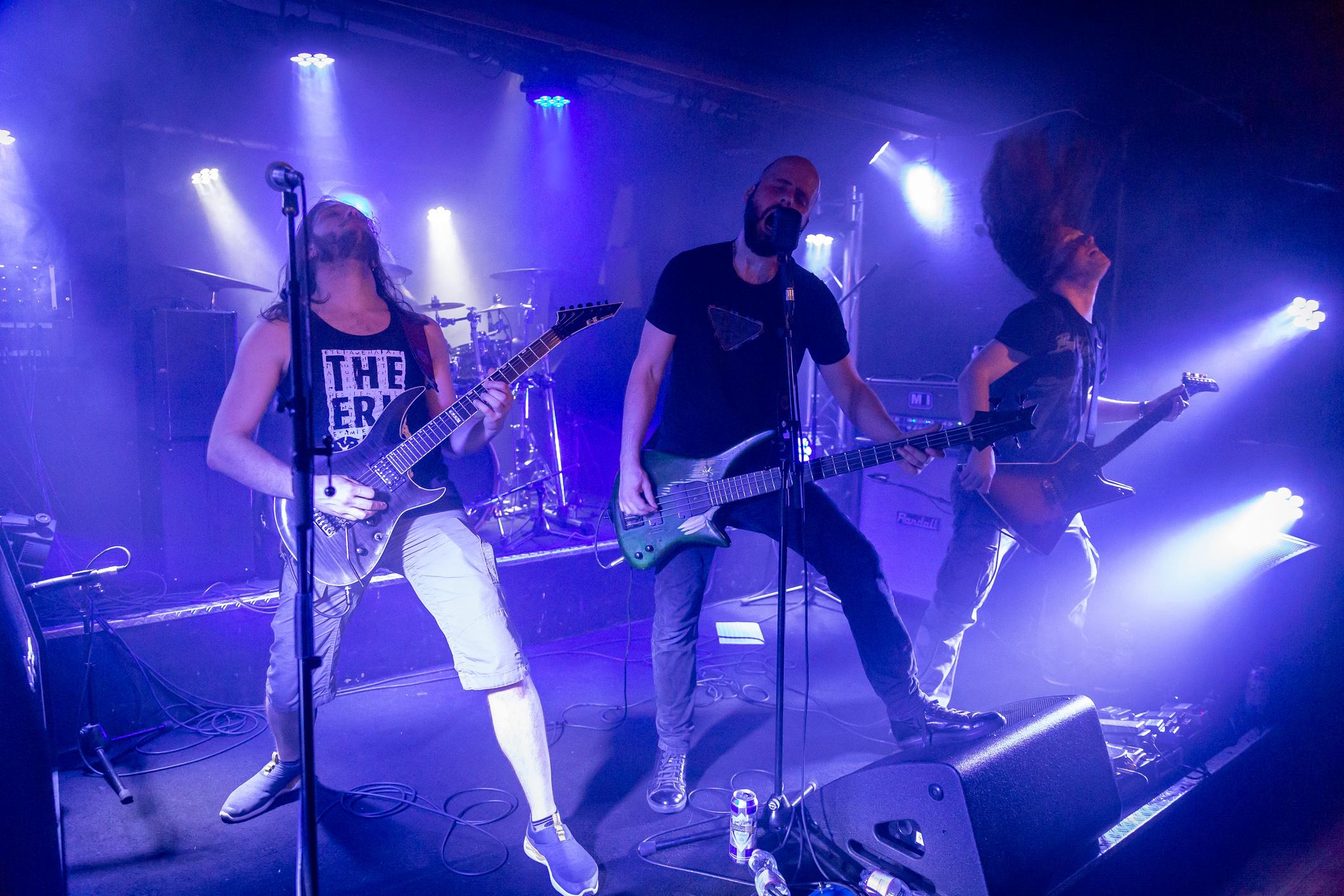 The Erkonauts (progressive punk metal, Suisse), en concert au Bouffon de la Taverne, Genève, 1er juin 2018. Photo: Stéphane Gallay, sous licence Creative Commons (CC-BY)