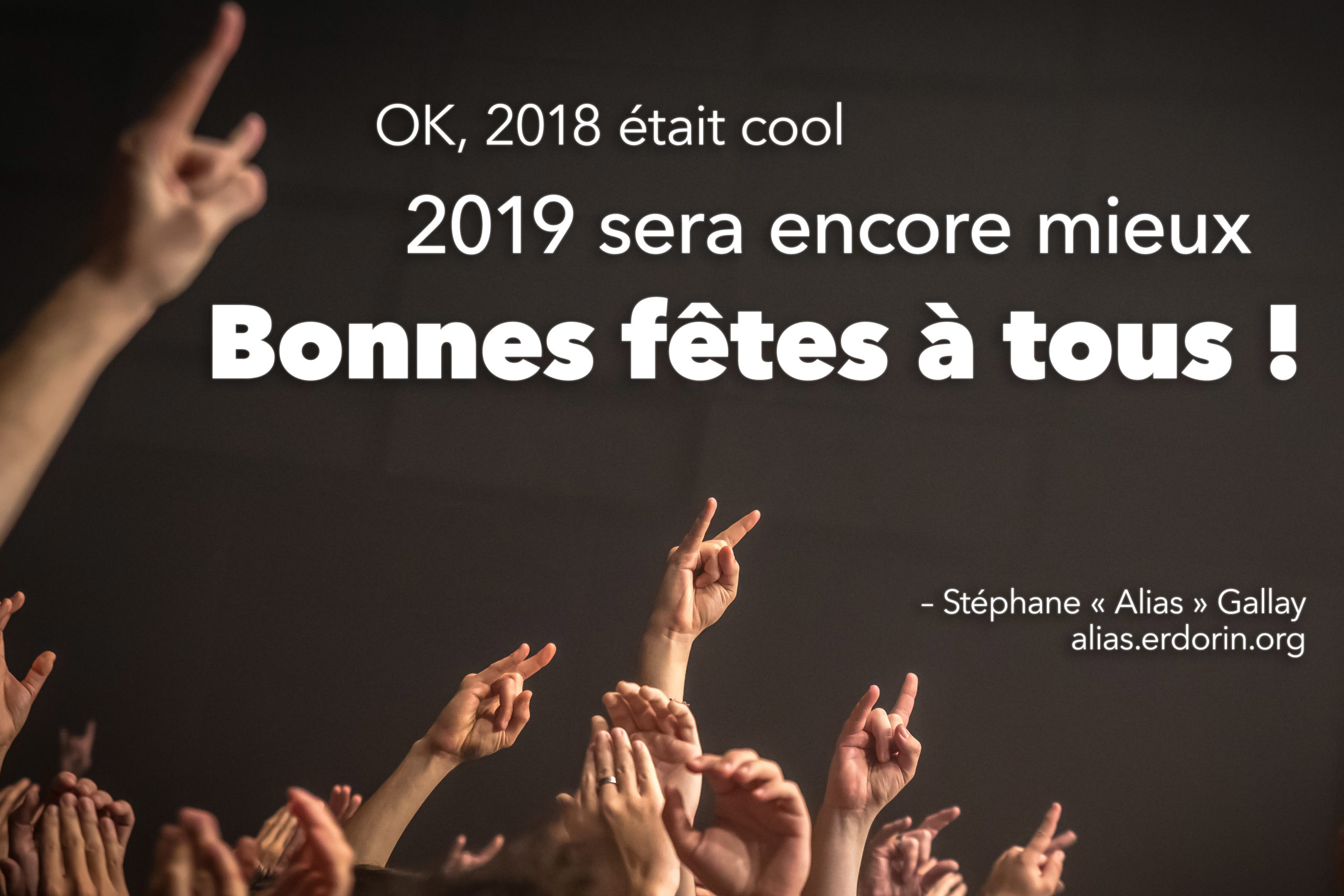 Bonnes fêtes 2019!