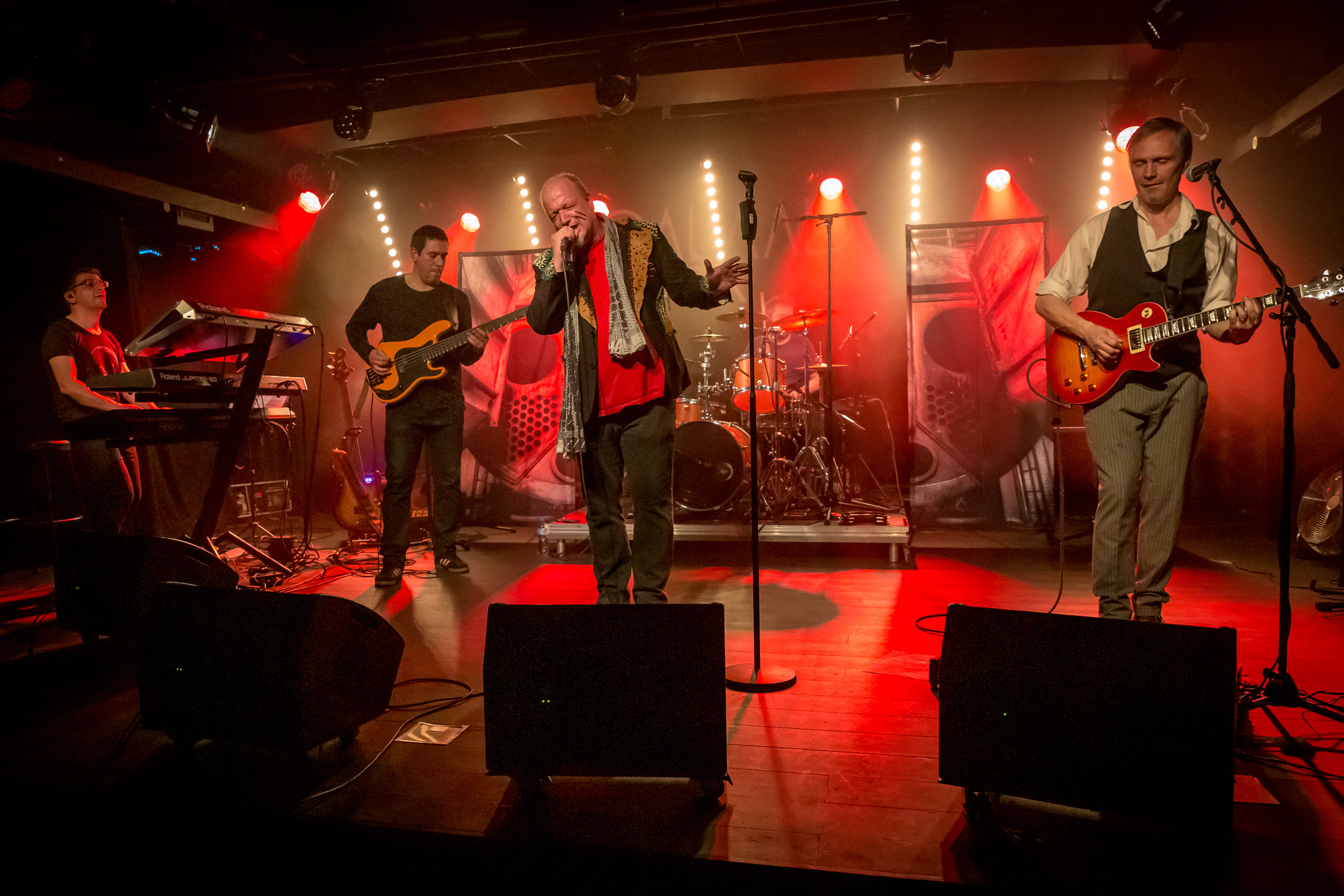 Galaad (rock progressif, Suisse) en concert à l'Azimut d'Estavayer-le-Lac (Suisse), le 18 mai 2019. Photo: Stéphane Gallay, sous licence Creative Commons (CC-BY)