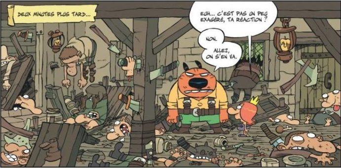 """Extrait de Raowl, tome 1, """"La Belle et l'Affreux"""", de Tebo"""
