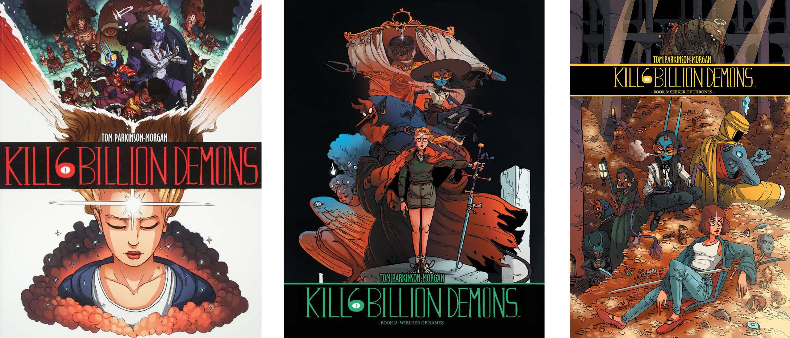 Kill 6 Billion Demons, tomes 1-3