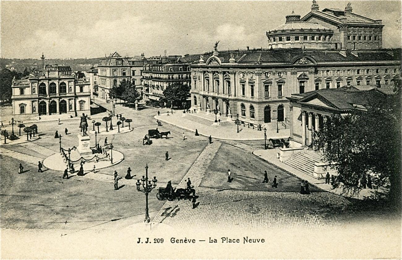 Genève: la Place de Neuve en 1909